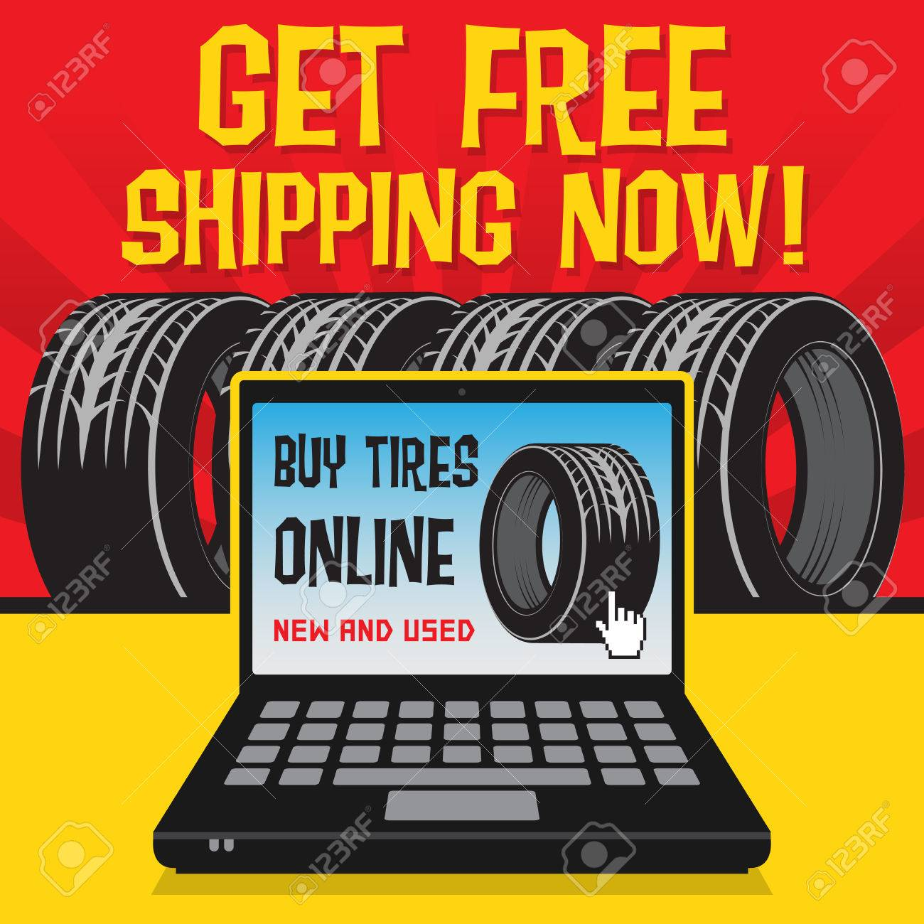 Buy Tires Online >> Vintage Tire Service Or Garage Poster With Text Buy Tires Online