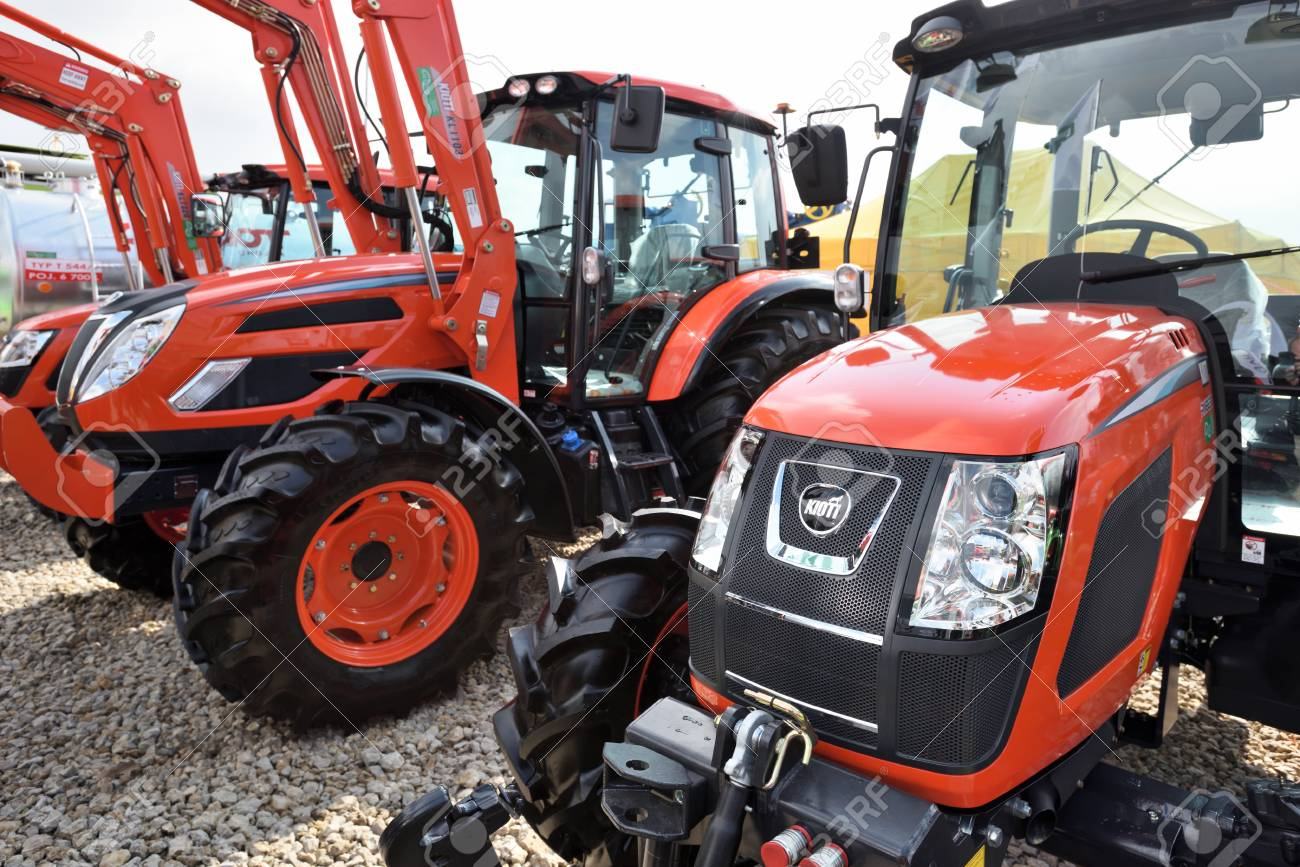 Kaunas, Lithuania - March 23: Kioti tractors on March 23, 2018