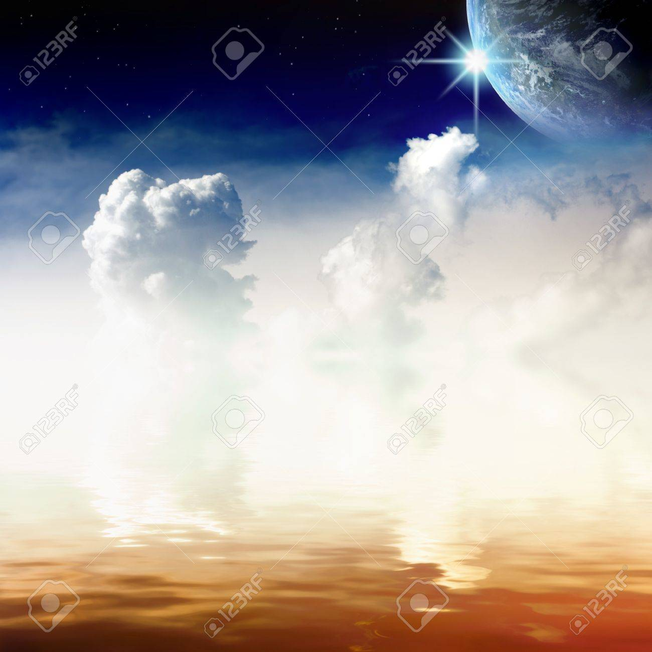 View From Heaven - Idyllic Peaceful Place Stock Photo, Picture And ...
