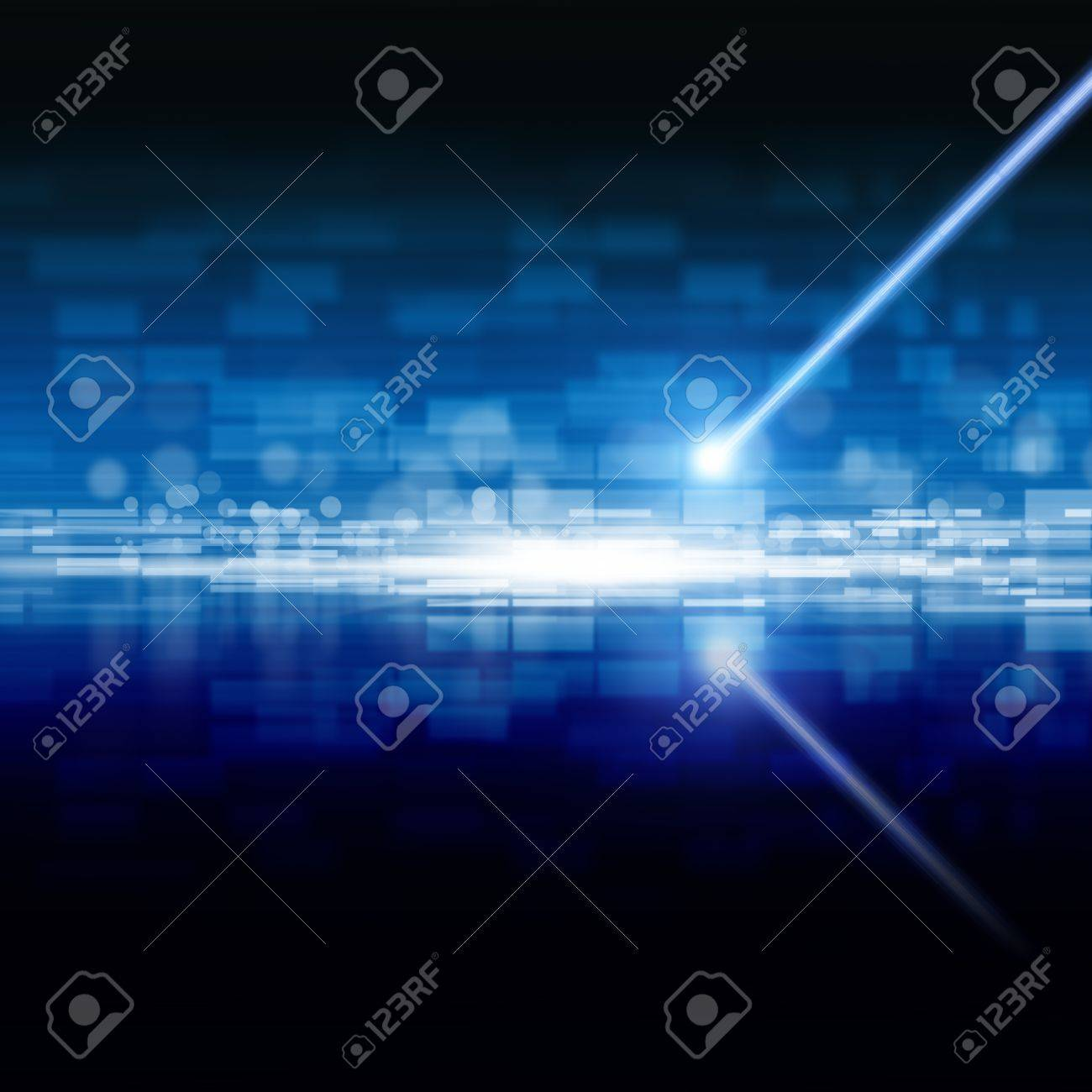 Abstract techologycal backgrond - laser beam, information on optical disk - 13424513