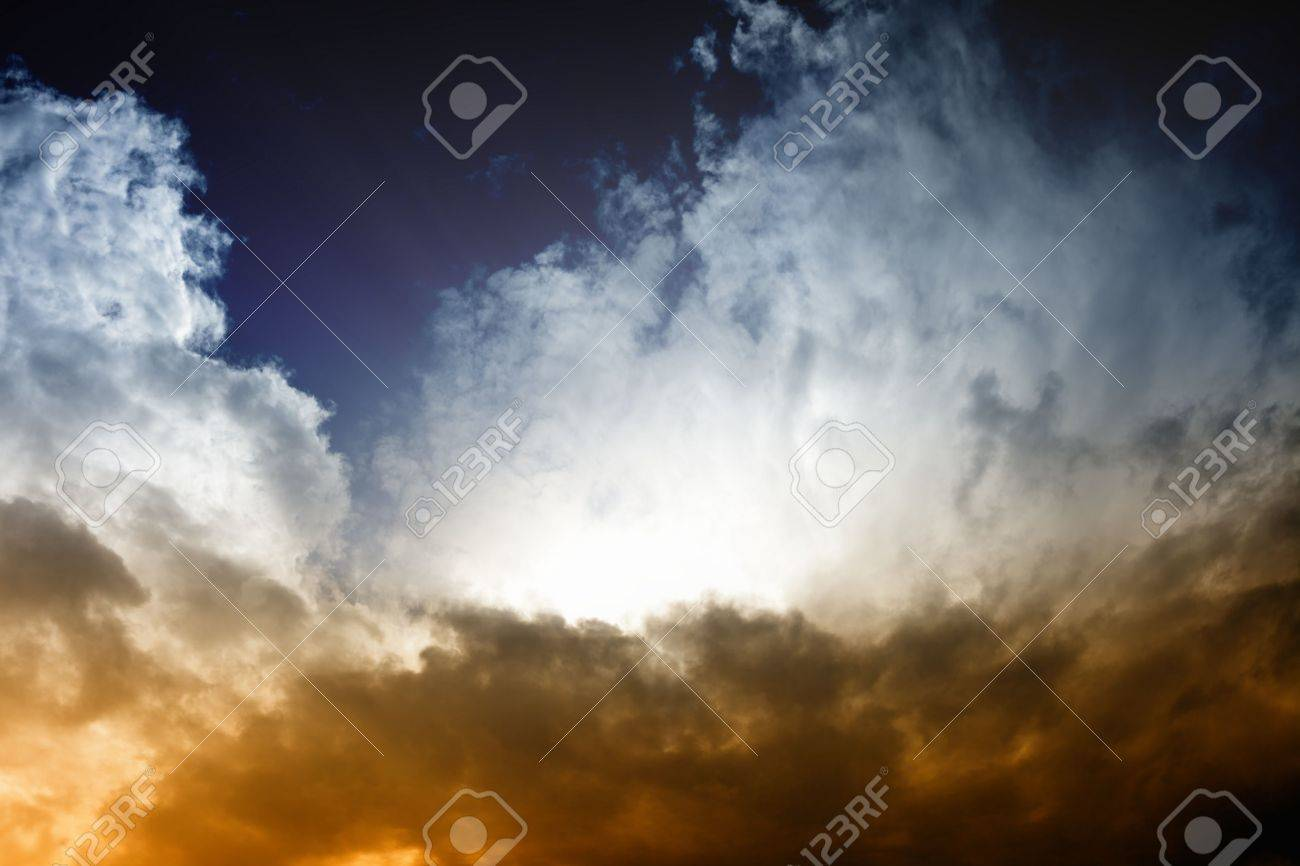 Fantastic background - dark sky and bright light from sun Stock Photo - 13655742
