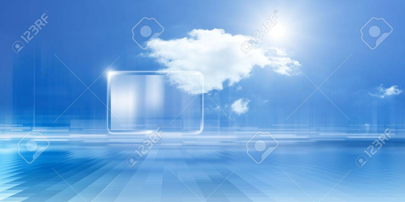 Technology background, cloud computing, augmented reality, abstract smartphone, multimedia gadget Stock Photo - 14297180