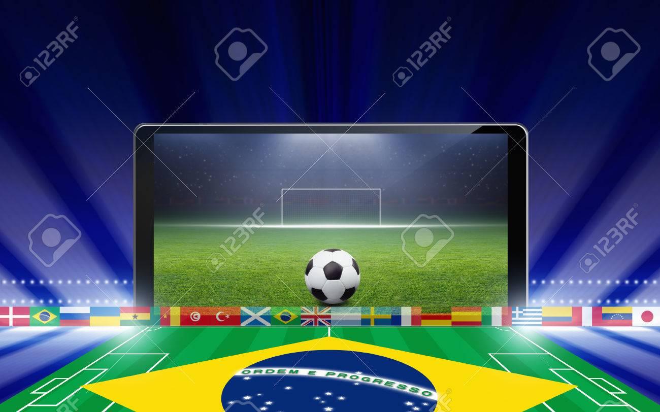 Tecnologia Historial Deportivo Tablet Pc Ordenador Balon De