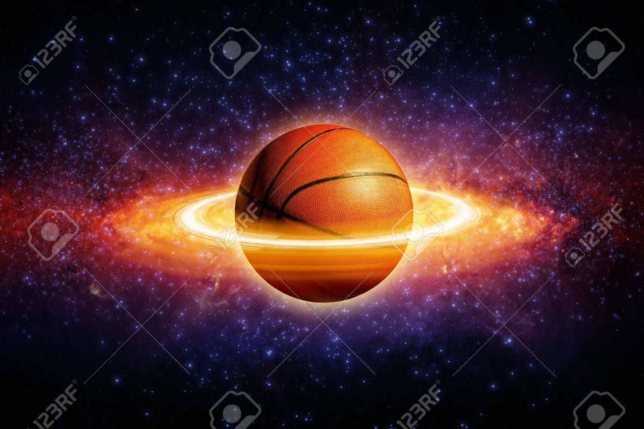 Fantastic Sports Background Basketball In Space Looks Like Stock Photo Picture And Royalty Free Image Image 33910962