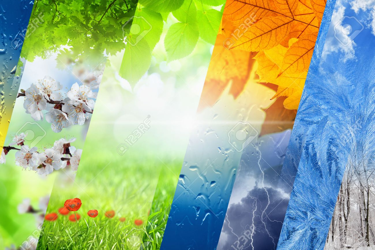 Beautiful Nature Part - 41: Beautiful Nature Background - Four Seasons Of Year Collage, Vibrant Images  Of Different Time Of