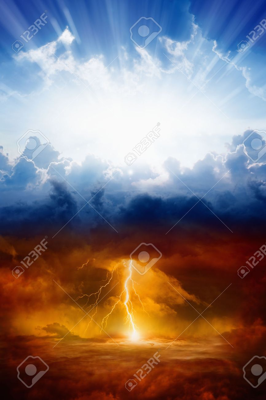 Religious background heaven and hell good and evil light and religious background heaven and hell good and evil light and darkness voltagebd Choice Image