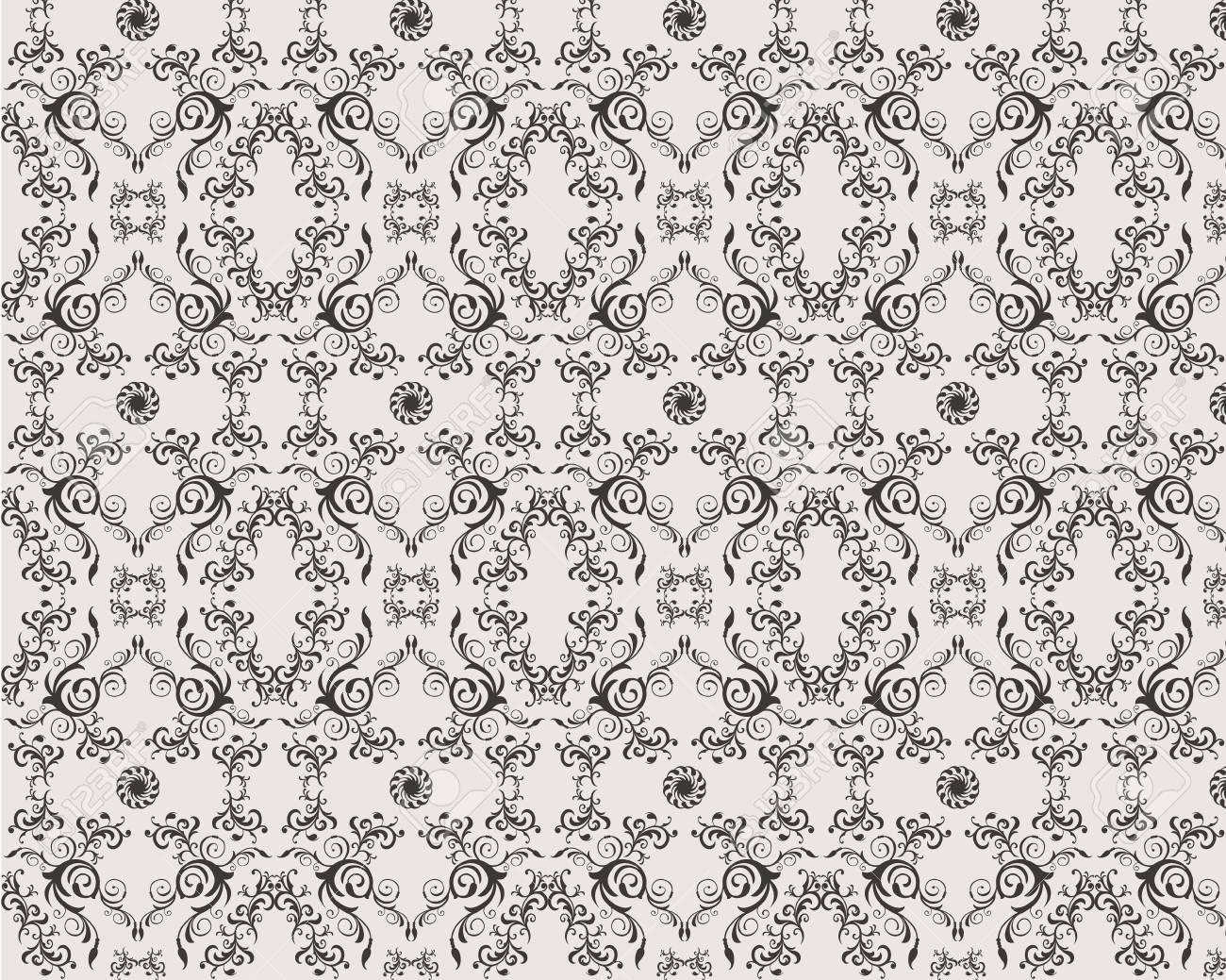 seamless vector floral ornamet damask pattern Stock Vector - 4771447