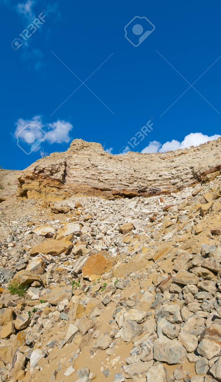 rocky landscape with blue sky and clouds Stock Photo - 10879008