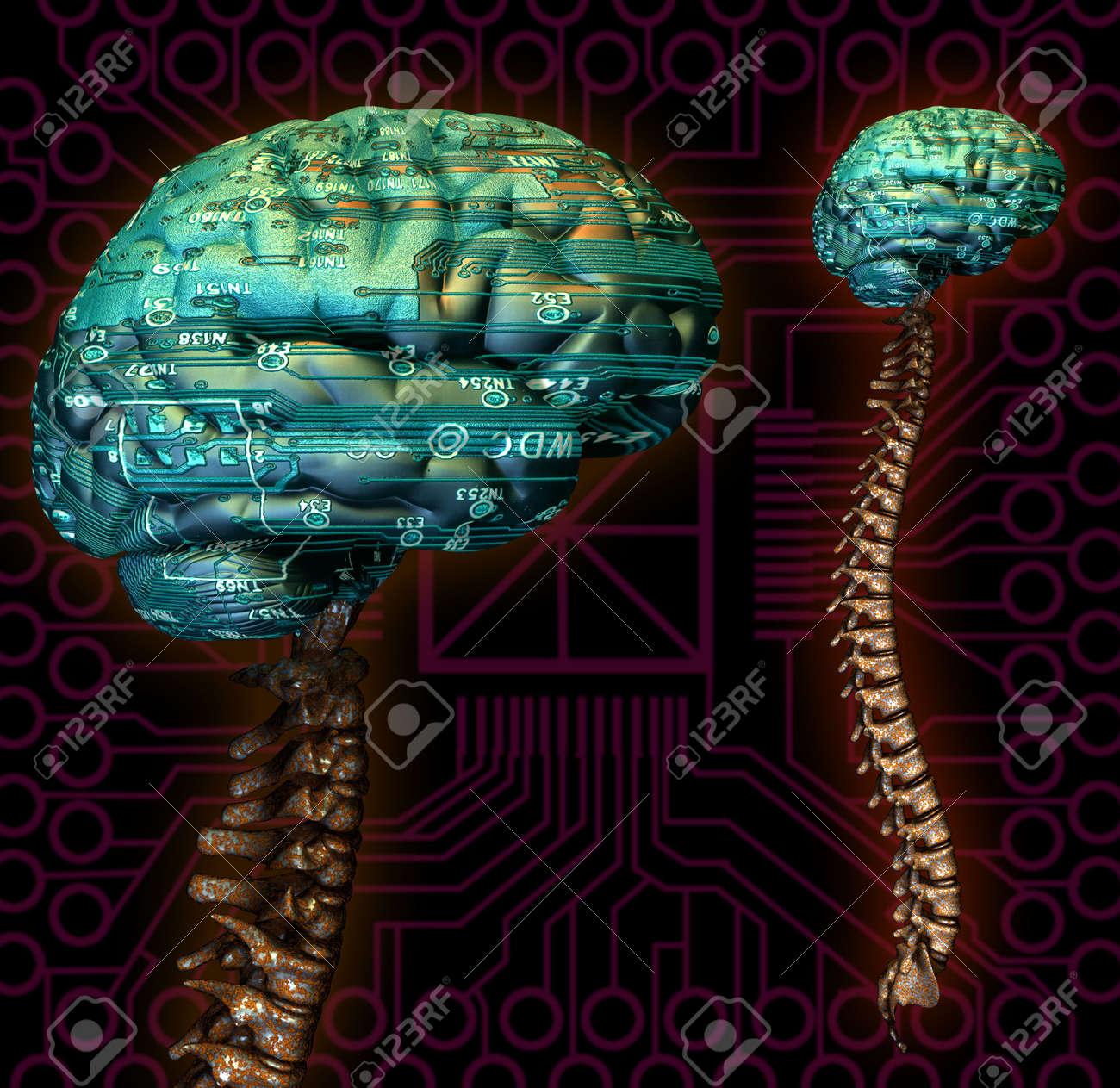 Cyber Virtual Processor Computer Calculator Brain Mind