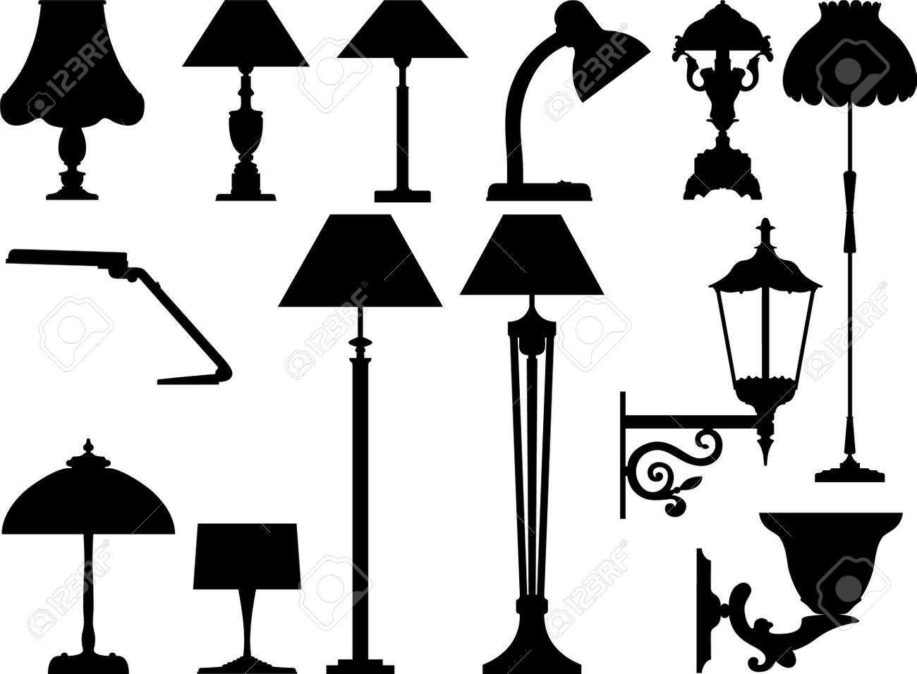icon lighting. icon lighting vector icons of devices in it is black white color a l