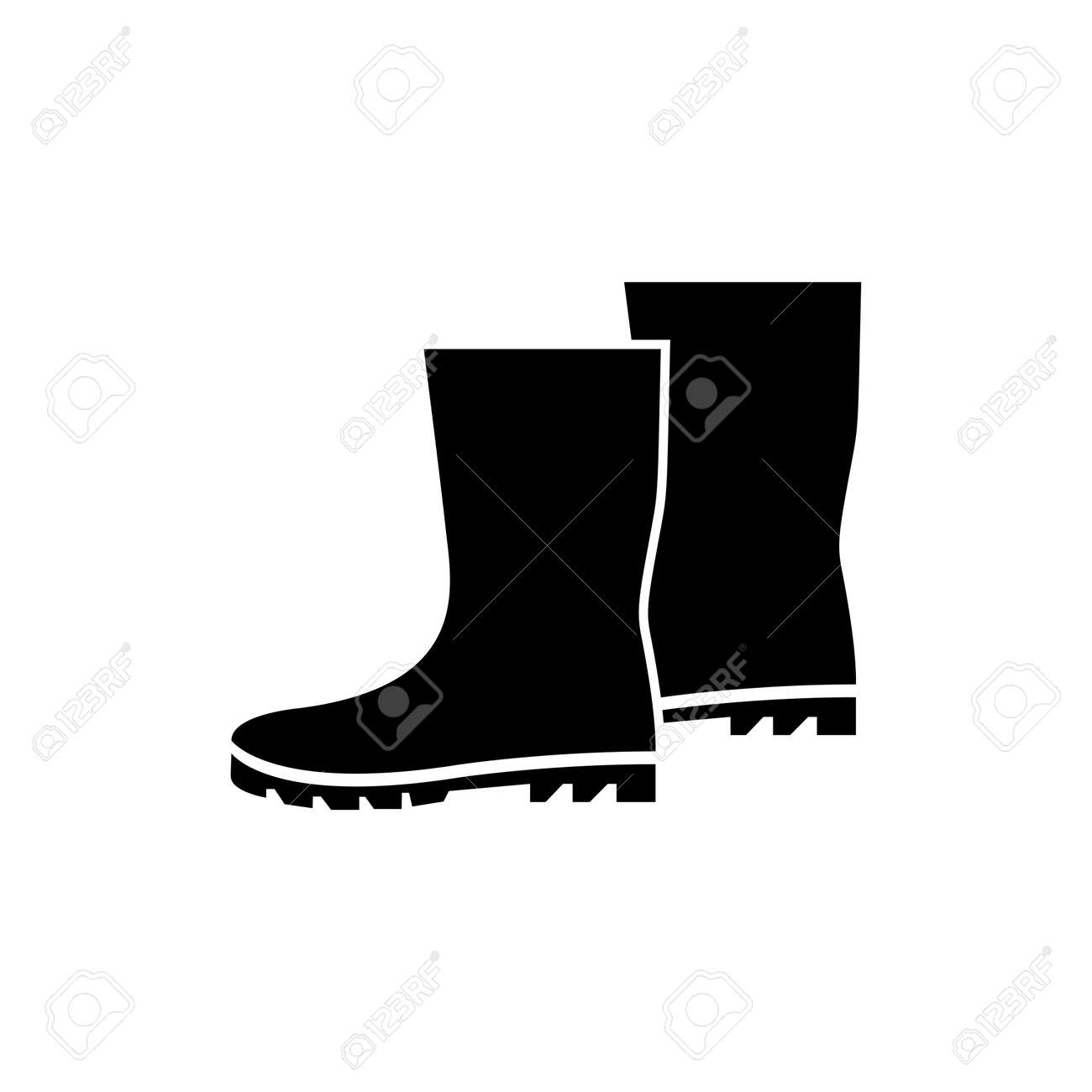 Boots Icon. Flat illustration isolated vector sign symbol