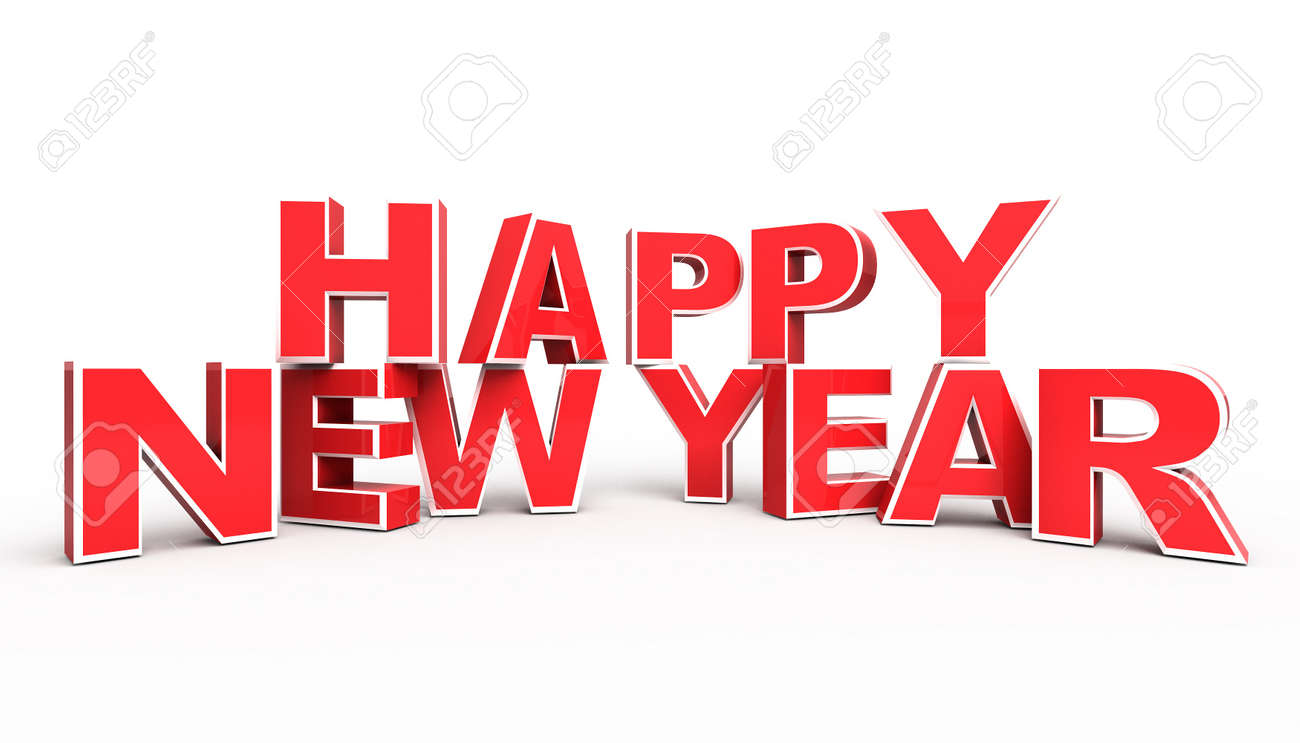 Red Happy New Year Background Stock Photo Picture And Royalty Free Image Image 10475447