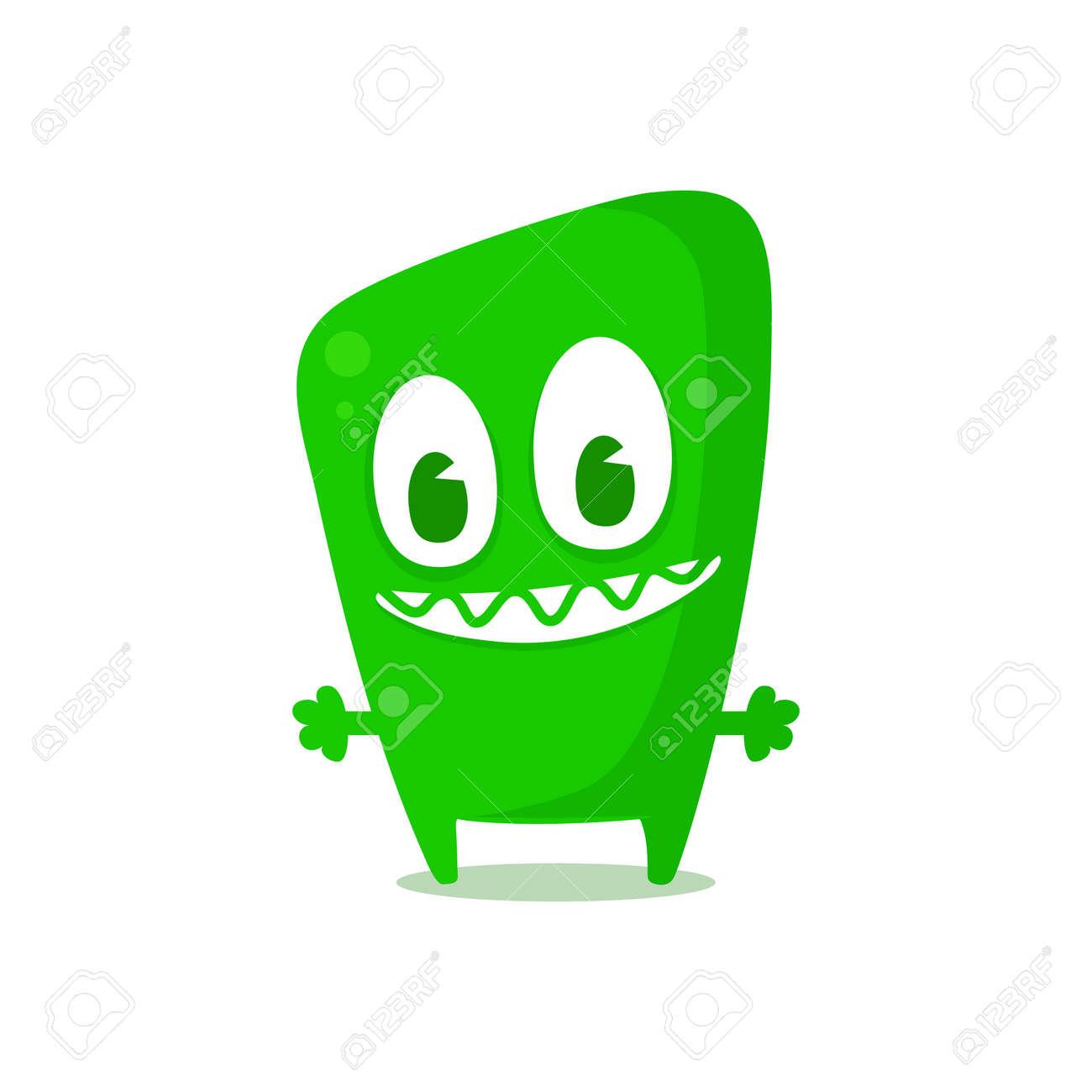 Happy green monster Stock Vector - 26933814