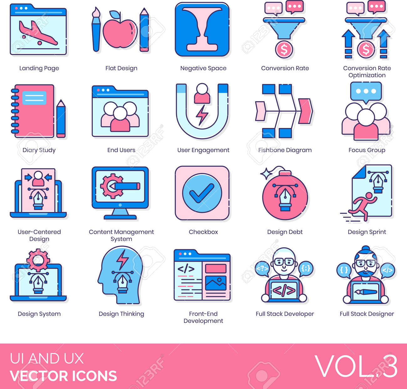 Line icons of UI and UX design, user engagement, development - 149433855