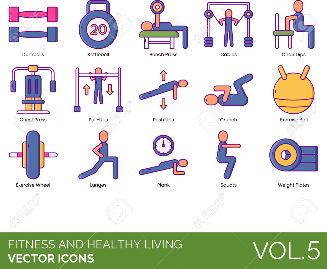 Line icons of fitness and healthy living, gym equipment, workout - 153357200