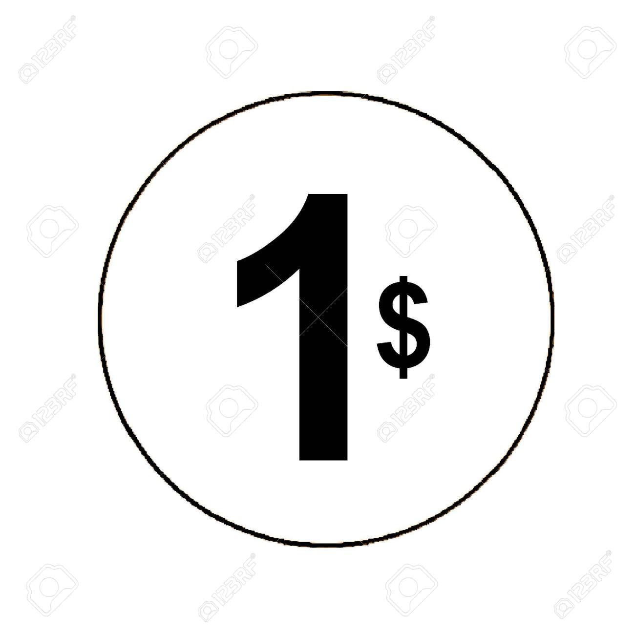 1 Dollar Clipart 15819 Enews