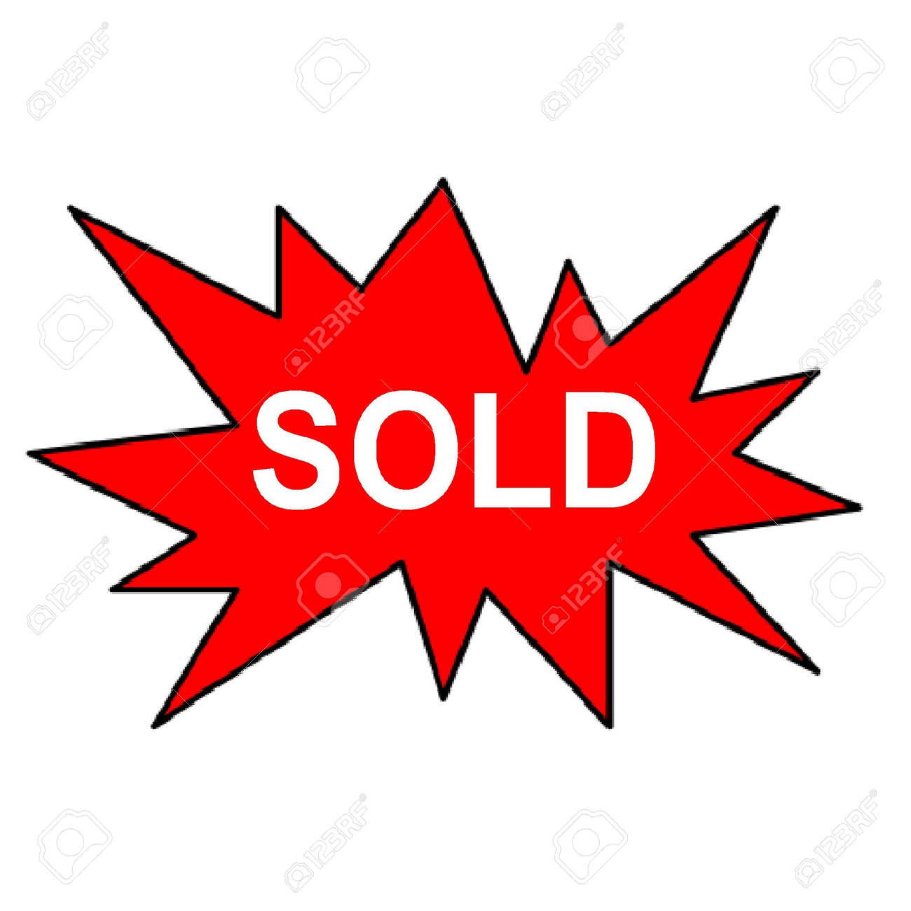 sold sign Stock Photo - 3581060