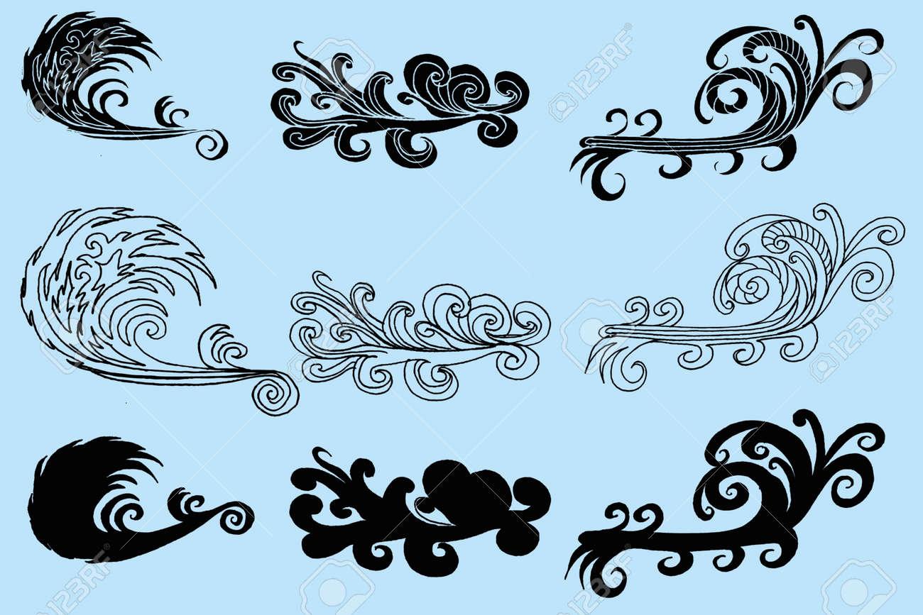 d1de1e1474bee Tattoo Tribal Wave Vector Art Royalty Free Cliparts, Vectors, And ...