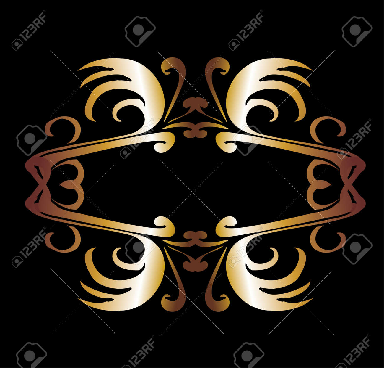 metalic gold wings and shield vector art Stock Vector - 19648684