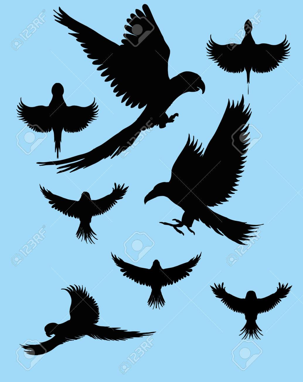 tattoo tribal birds vector art Stock Vector - 22249491