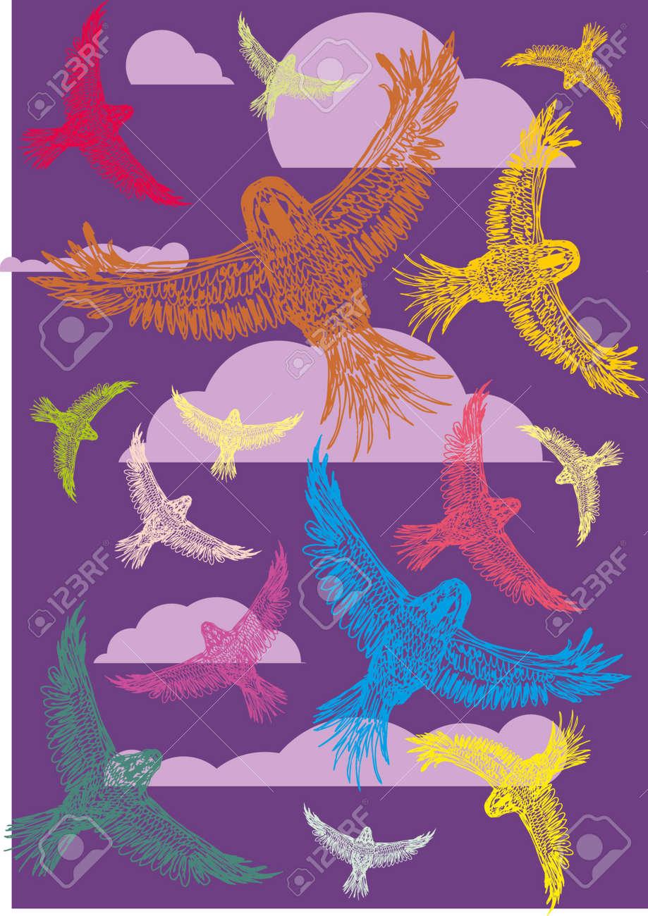 tattoo tribal birds vector art Stock Vector - 22249500