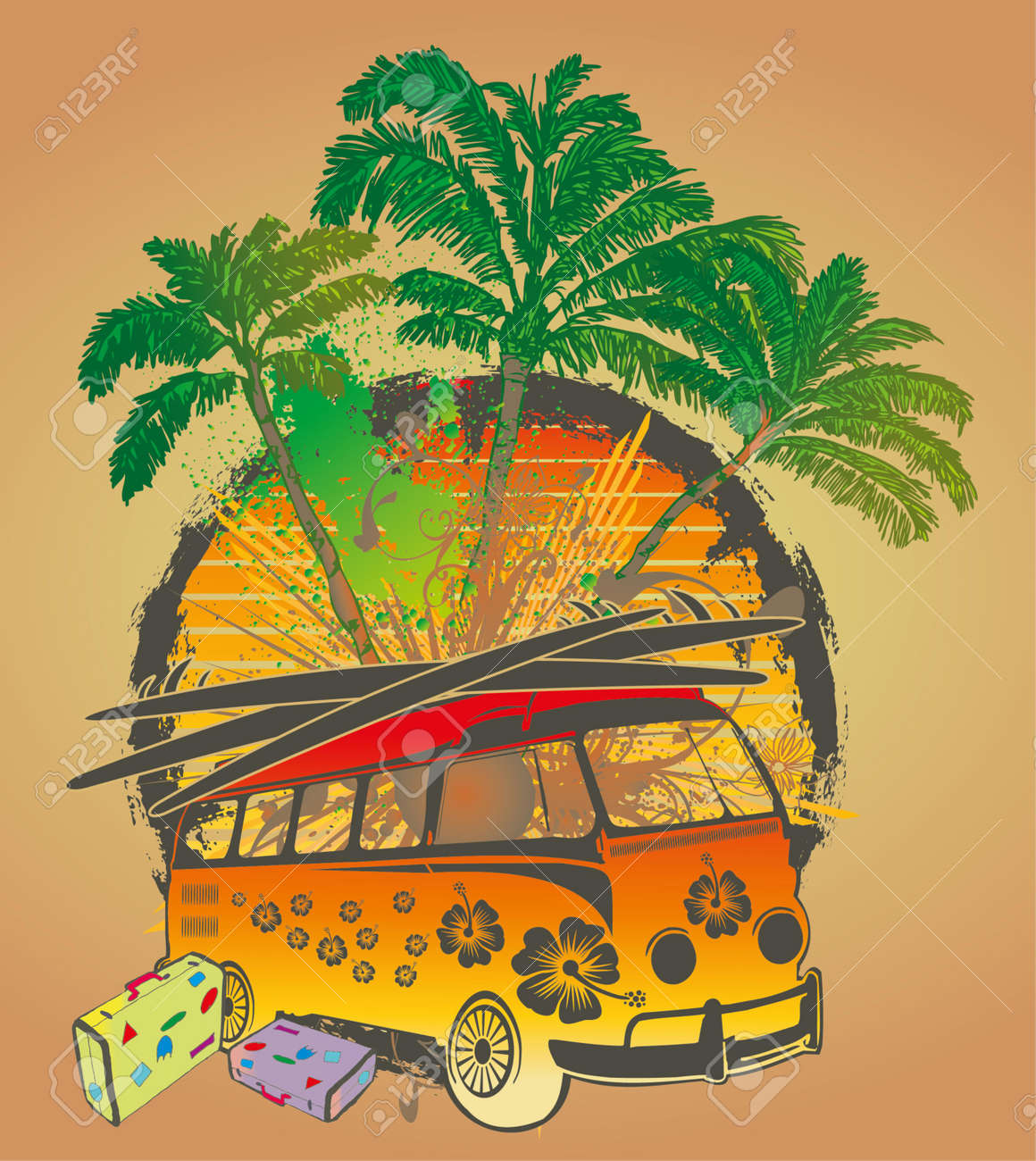 palm beach van vector art royalty free cliparts vectors and stock