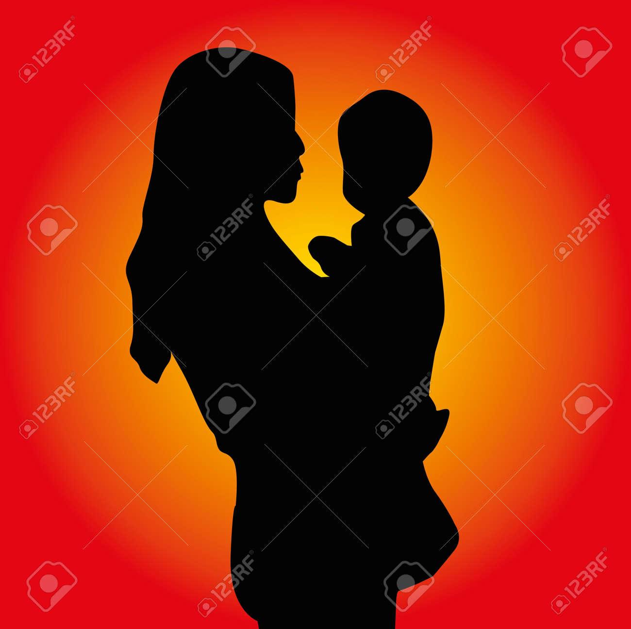 happy mothers day vector art Stock Vector - 23089124
