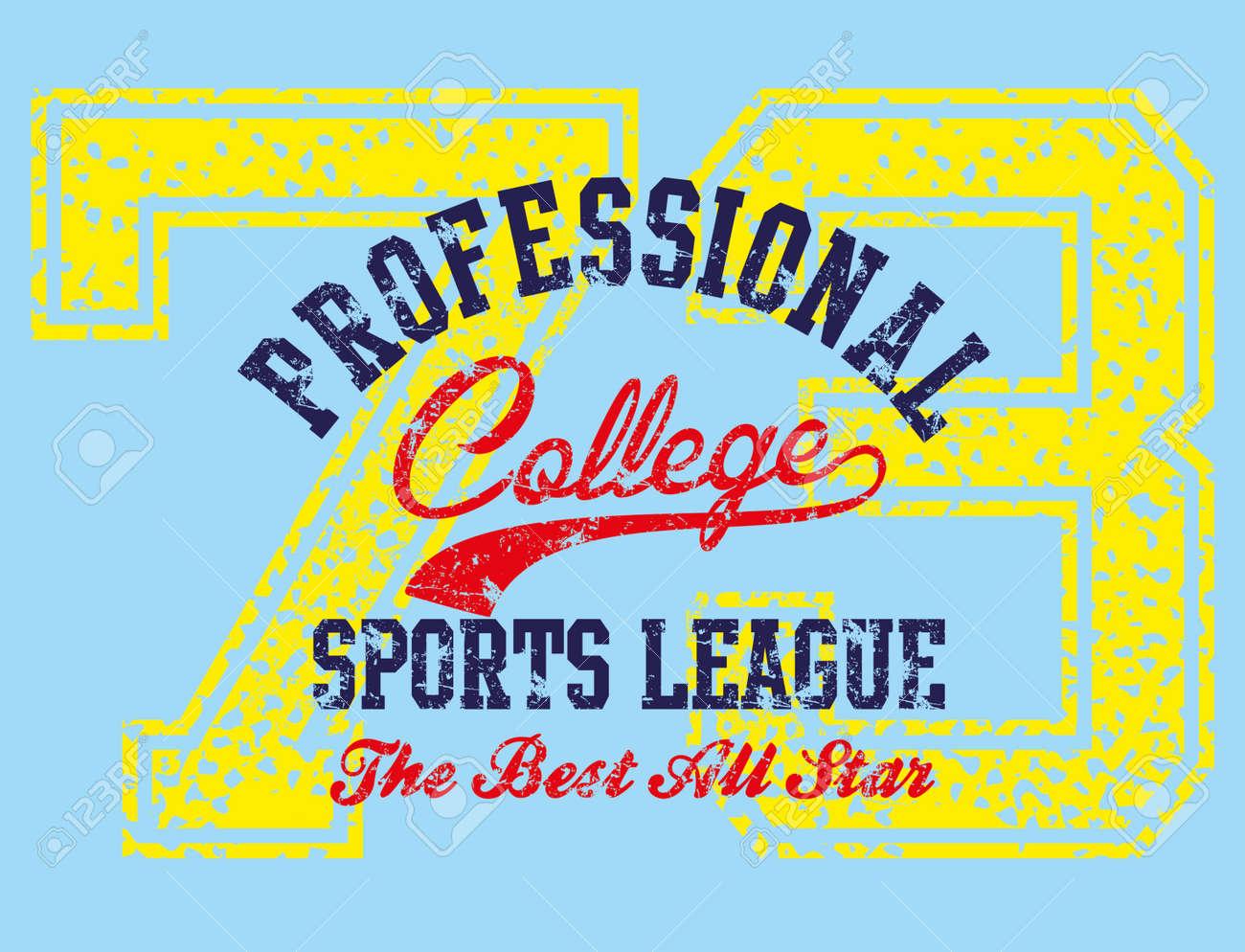 american college sports vector art Stock Vector - 23153761