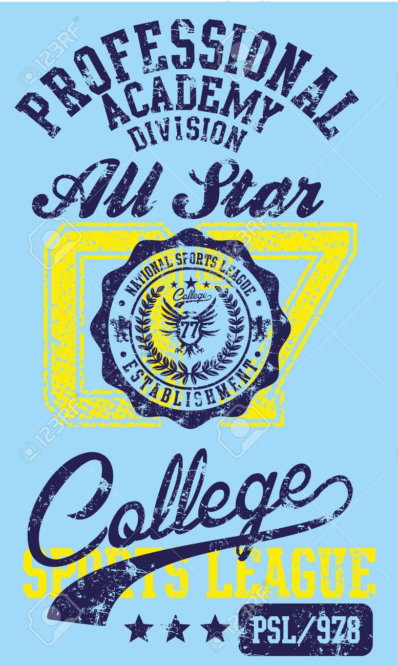 american college sports vector art Stock Vector - 23350365