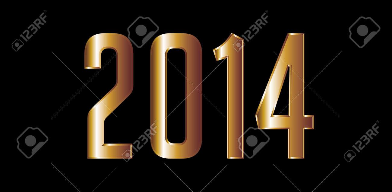 golden horse happy new year 2014 vector art stock vector 23392065