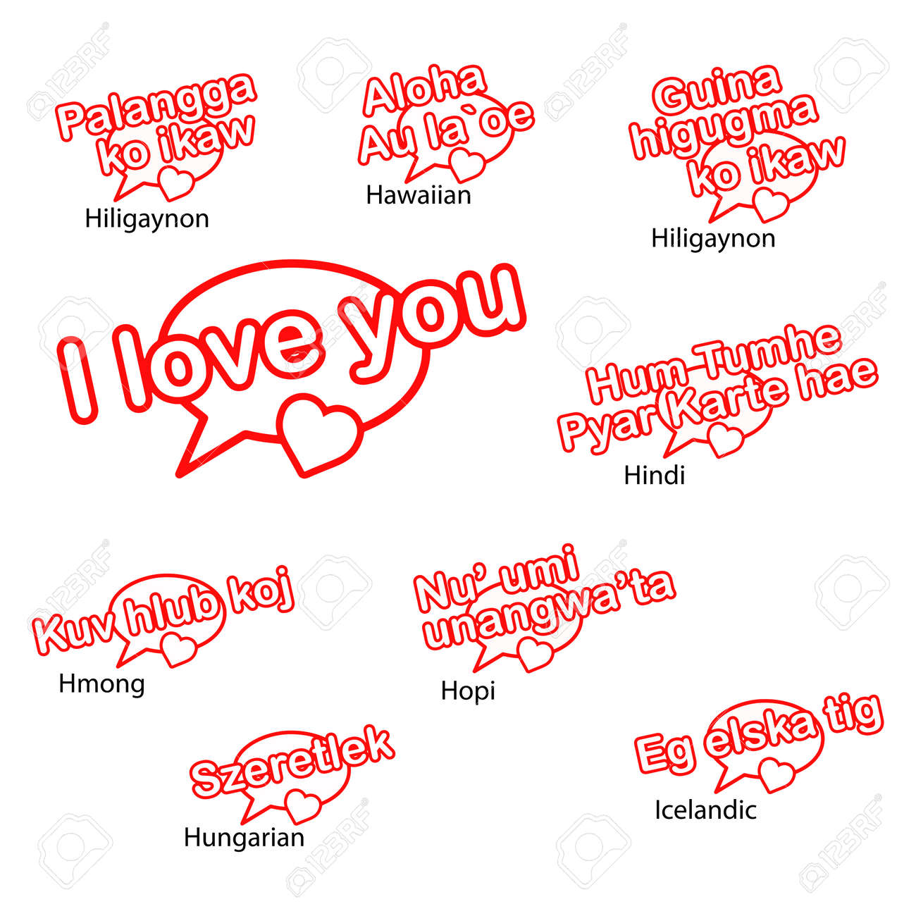 Word i love you in different languages love concept royalty free vector word i love you in different languages love concept thecheapjerseys