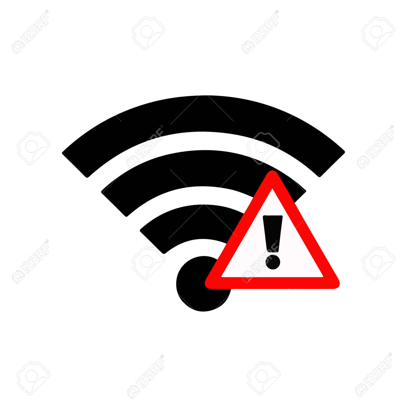 Illustration vector wifi sign with exclamation mark royalty free illustration vector wifi sign with exclamation mark stock vector 62141458 biocorpaavc