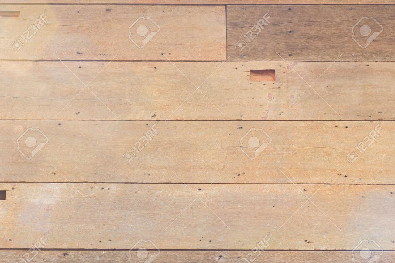 Close Up Braun Holz Textur Hintergrund Wand Mit Natürlichen Muster,  Horizontale Streifen Standard Bild