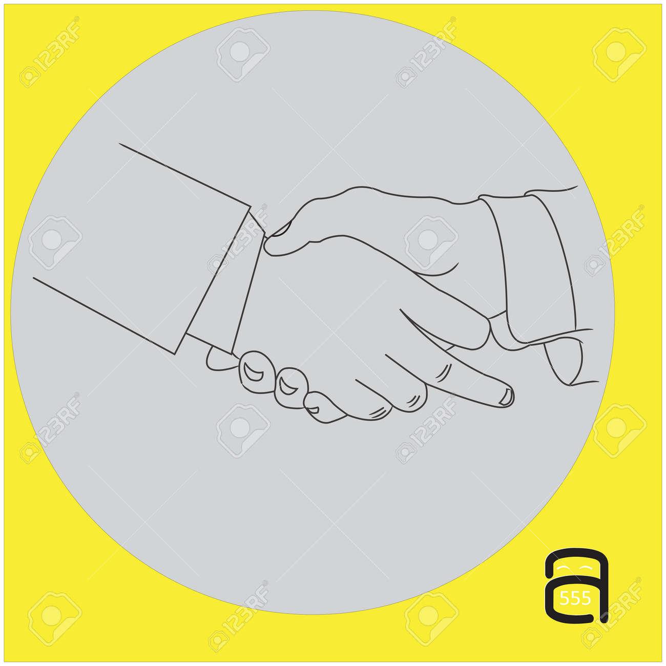 handshake businessman with showing middle finger - vector