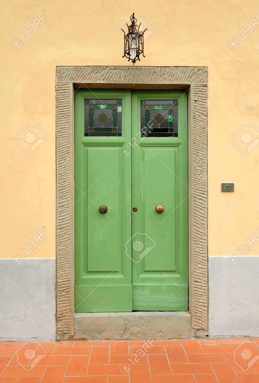 Rustic Italian Front Door Stock Photo Picture And Royalty Free