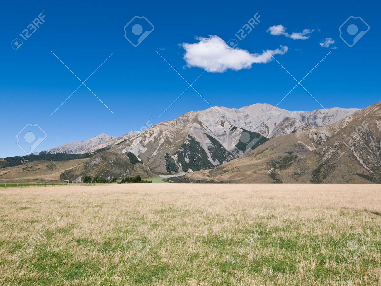 Summer landscape blue sky and kaarst Mountain Stock Photo - 8810672