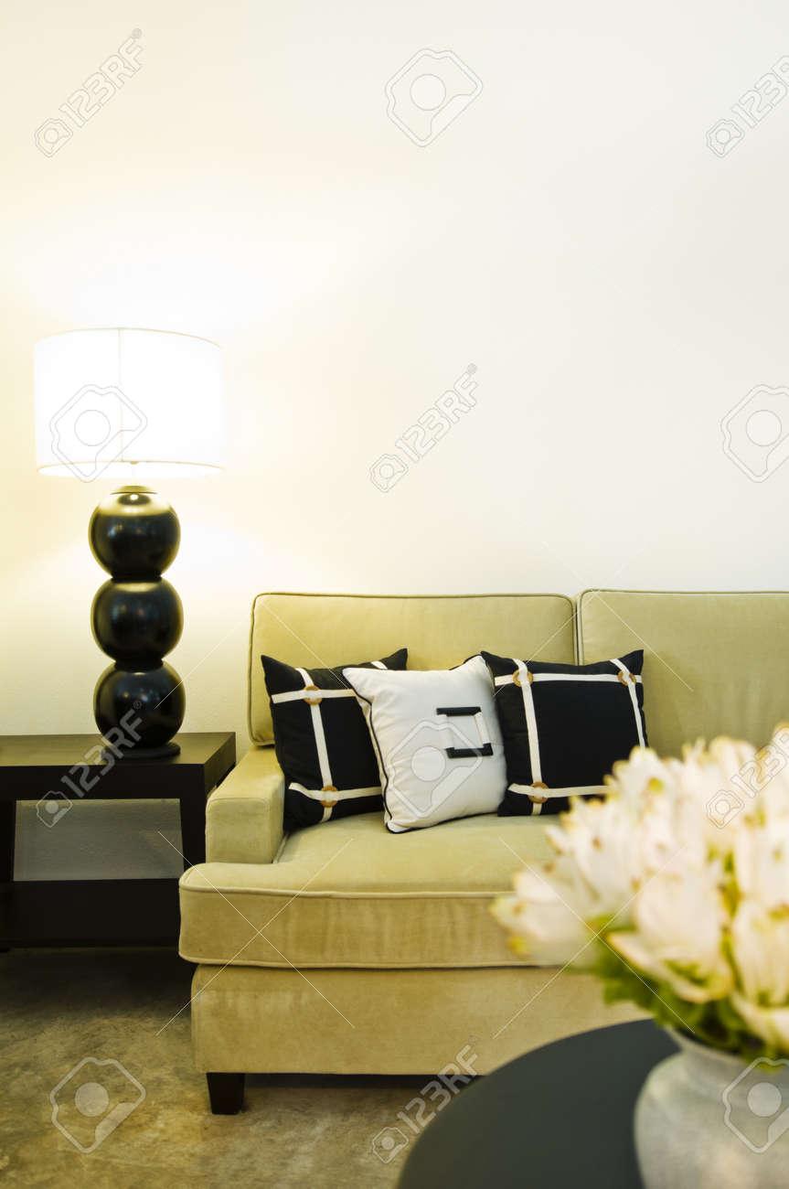 Coin salon canapé contemporain design intérieur magnifique