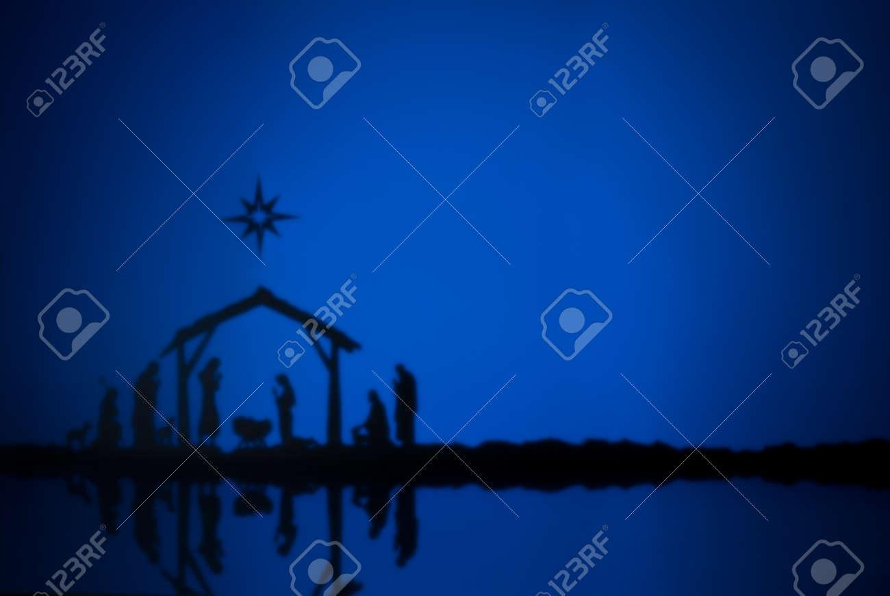 Birth Jesus silhouette of the crib in Bethlehem - 21194691