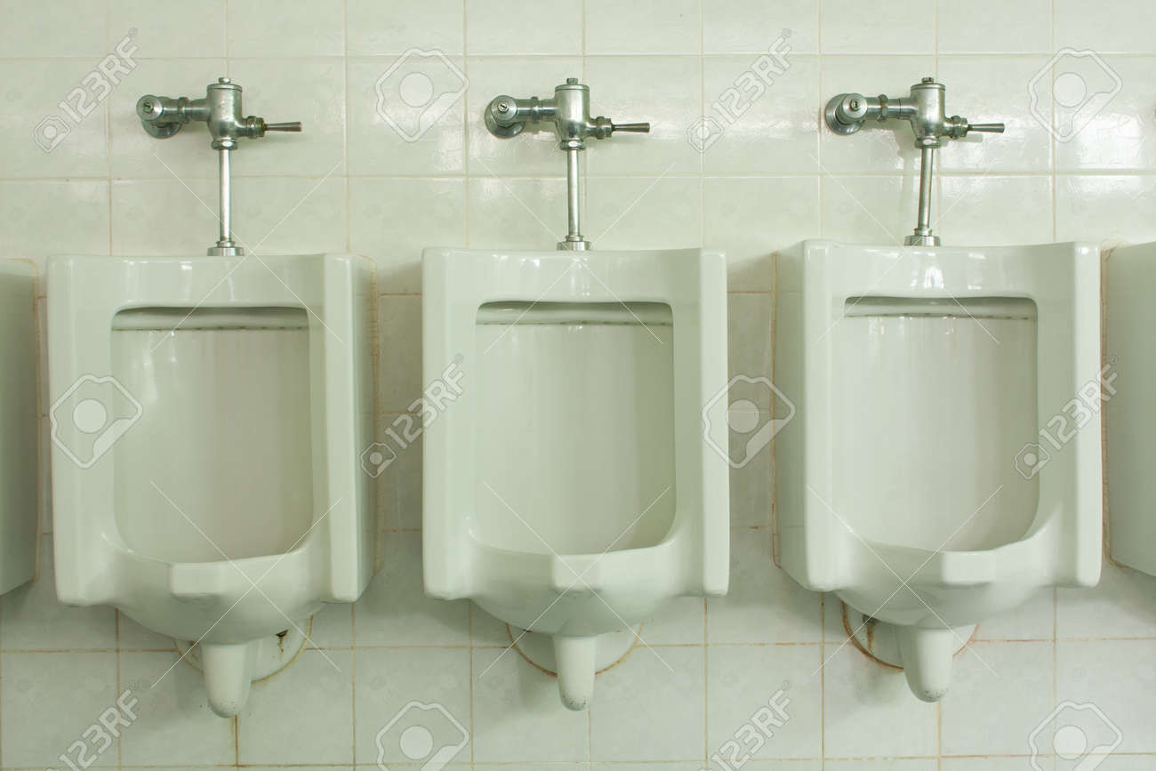 in the room toilet men in the hall Stock Photo - 7220685