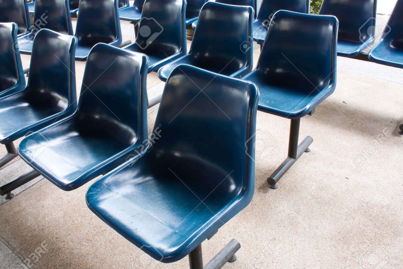 the blue chairs on the floor , pattern blue chairs Stock Photo - 7220845