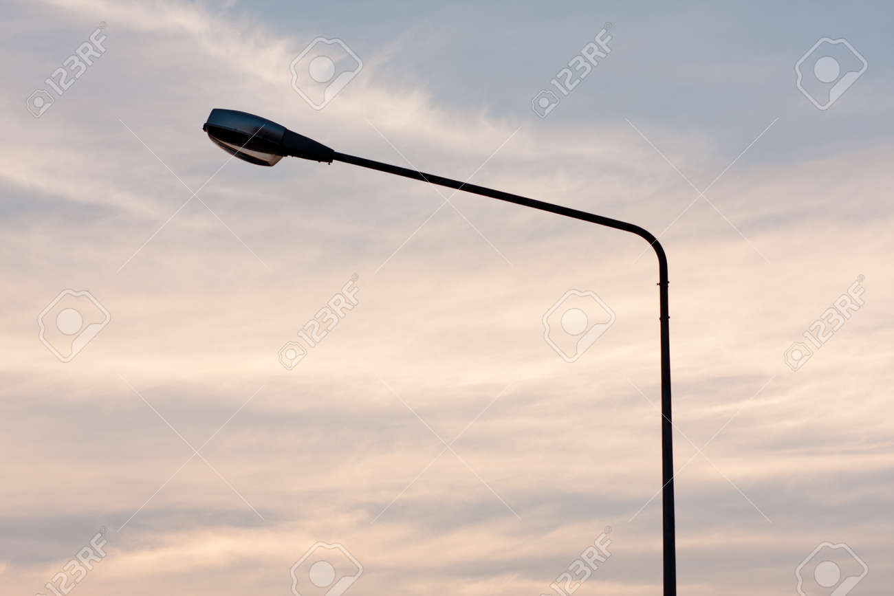 Light poles and public lighting. The illumination and guidance. Stock Photo - 9038346