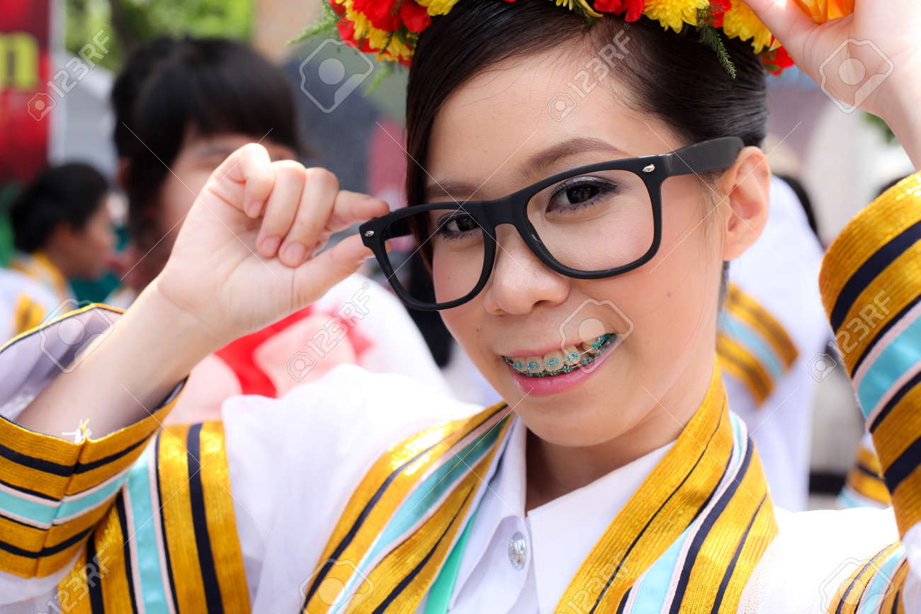 the woman smile in congratulations day,thai congratulations day, woman thai. Stock Photo - 9605268