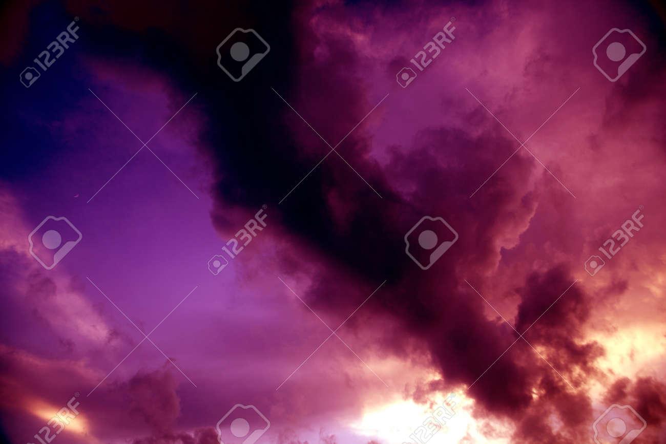 The sky darkened. Especially in the evening that much. Stock Photo - 10739122