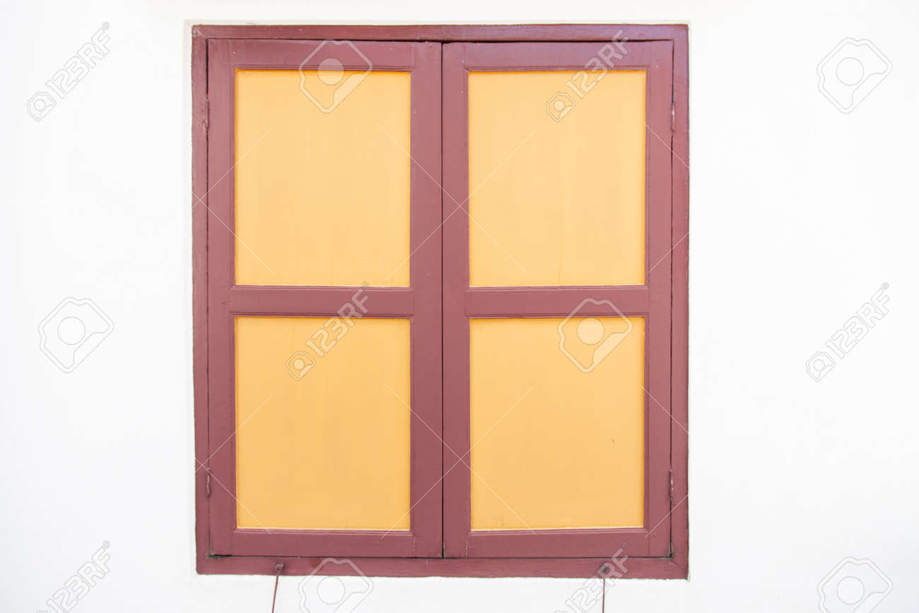 Old Wooden Windows The White Walls Simple Design Stock Photo Picture And Royalty Free Image Image 25999168