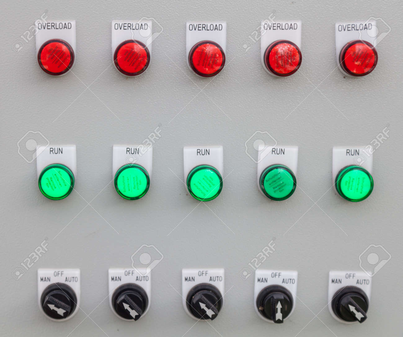 Electronic Control Panel Control Of The Mechanical, Electrical ...