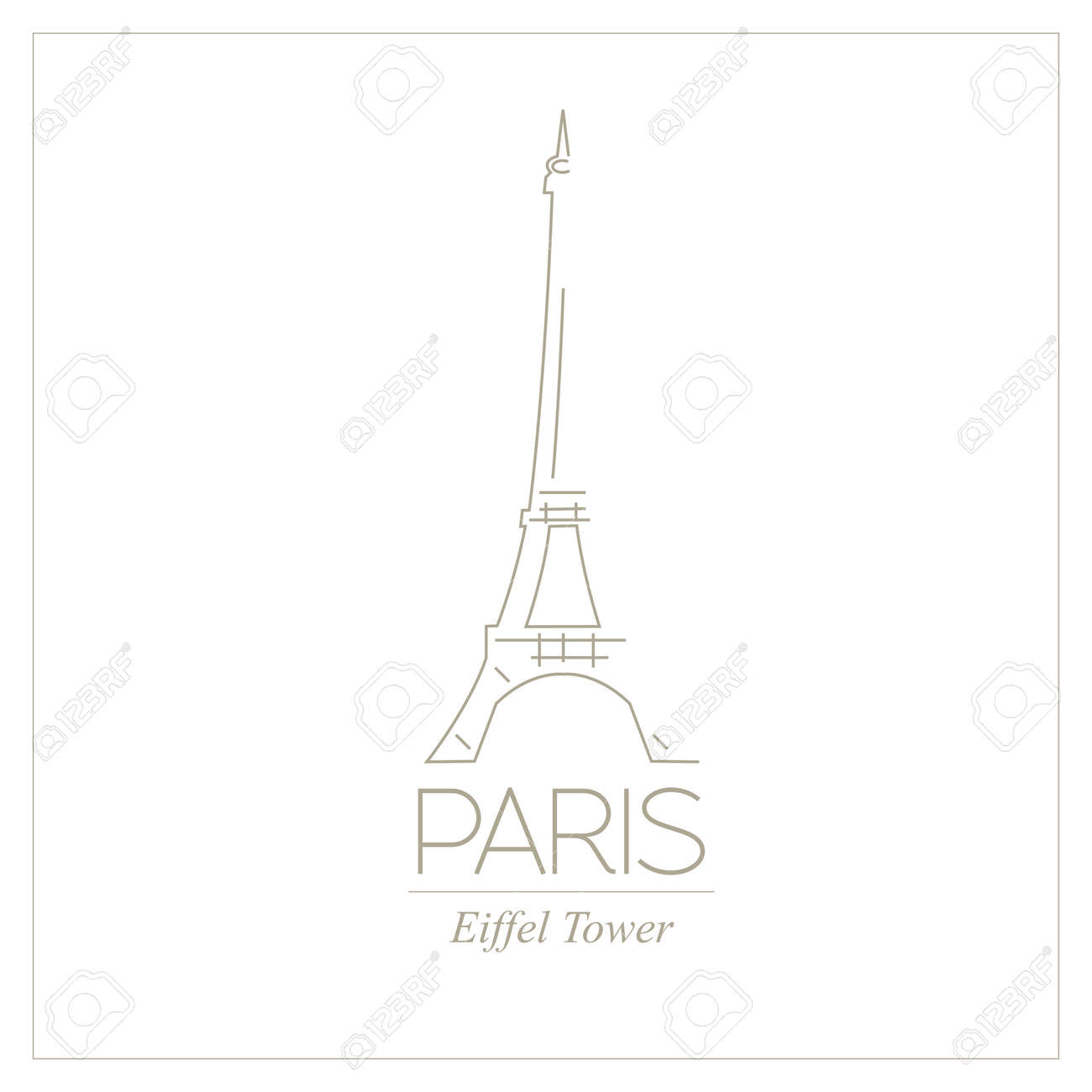 8 X 9 Paris France STENCIL w Eiffel Tower and Hearts Cute//Travel//Paint//Template