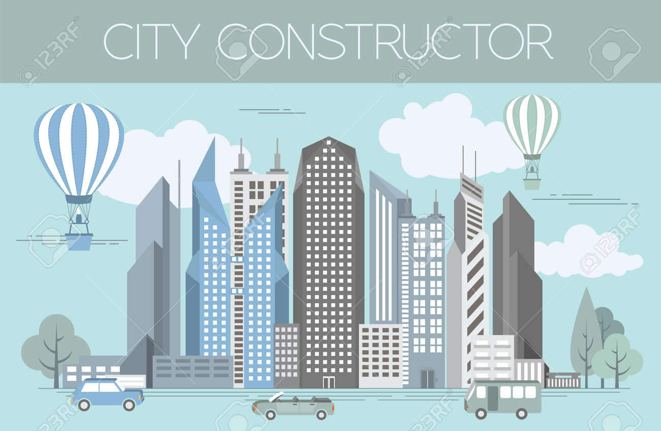 great city map creator colour version house constructor house cafe restaurant - House Map Creator
