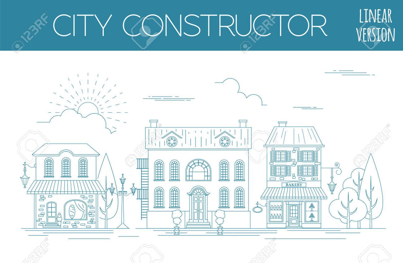 great city map creator outline version house constructor house cafe restaurant - House Map Creator