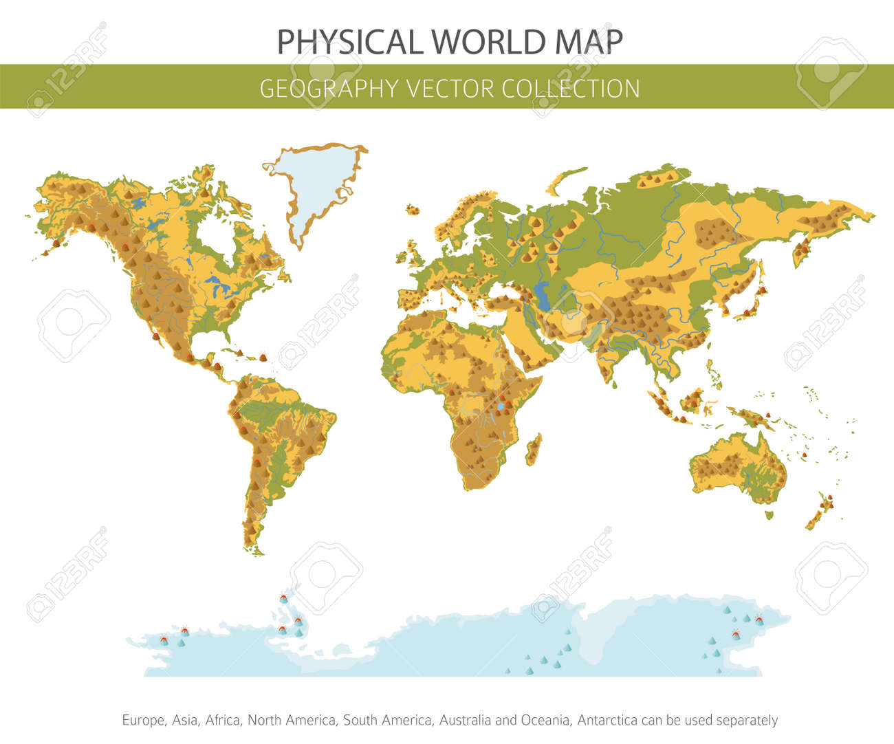 Physical World Map Elements Build Your Own Geography Info Graphic