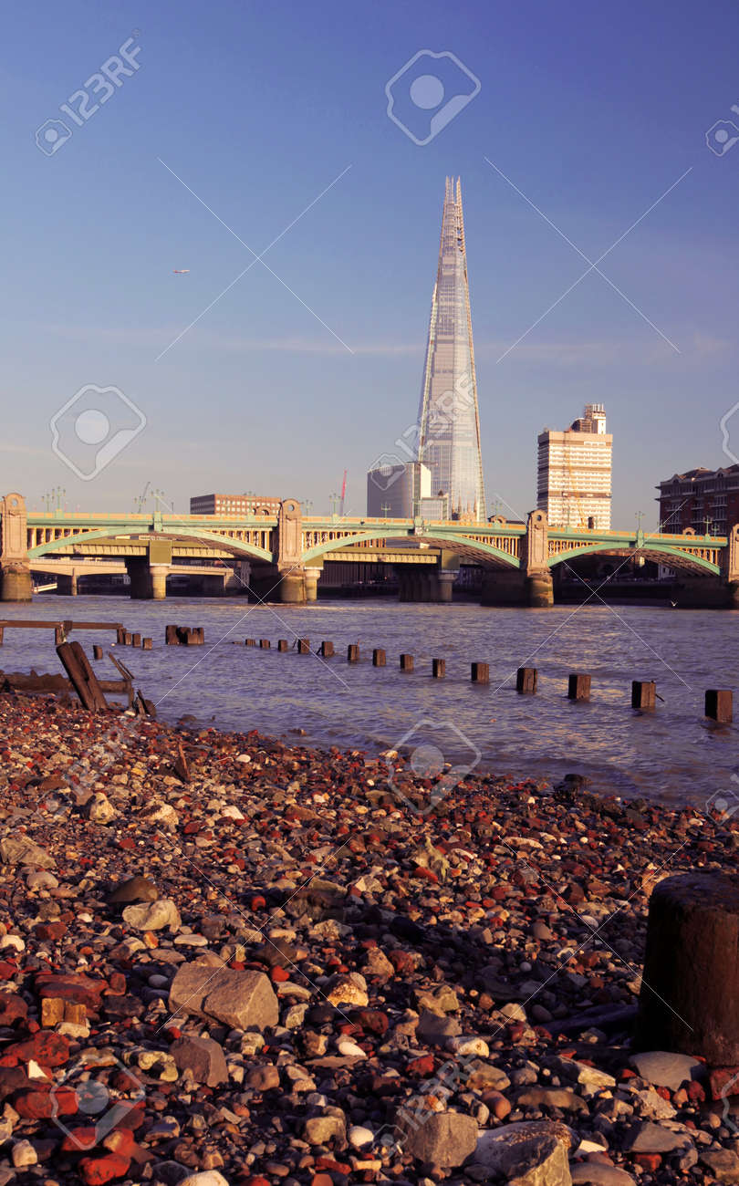 Southwark Bridge with The Shard in the background Stock Photo - 22275905